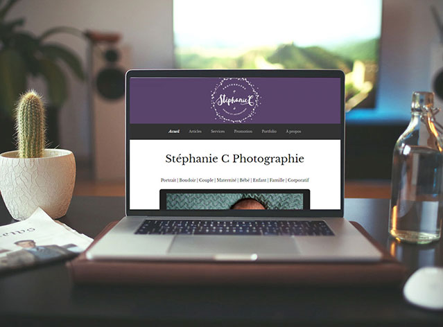 Site web de photographe
